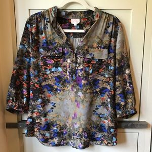 Parker Top - Abstract Floral - Size S